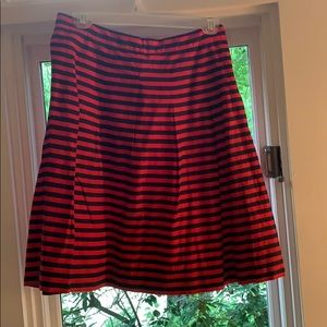 Red and Blue J.Crew Skirt